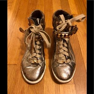 Michael Kors Gold Sneakers